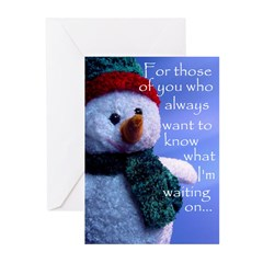 Waiting on Christmas Greeting Cards (Pk of 10)