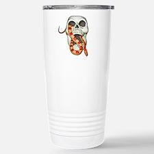 Scary Snake Skull Travel Mug