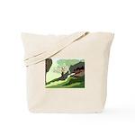 Christmas Kitty & LIt Tree Tote Bag
