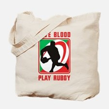 Rugby player pass Tote Bag