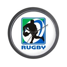 Rugby player pass Wall Clock