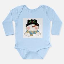 Holiday Snowman Long Sleeve Infant Bodysuit