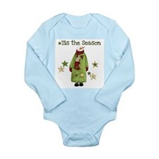 Snowman Tis the Season Onesie Romper Suit