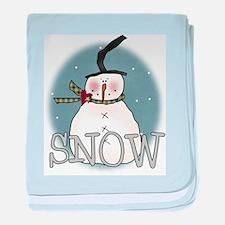 Snowman Infant Blanket