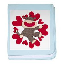 Sock Monkey Love Infant Blanket