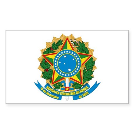 Brazil Coat of Arms Rectangle Sticker