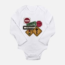 Road Signs Long Sleeve Infant Bodysuit