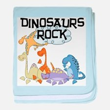 Dinosaurs Rock Infant Blanket