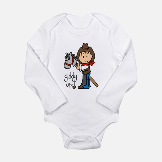 Giddy Up Cowboy Long Sleeve Infant Bodysuit
