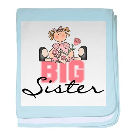 Girl Big Sister Infant Blanket