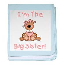 Bear Big Sister Infant Blanket