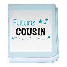 Future Cousin (blue) Infant Blanket