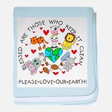 Earth Friendly Animals Infant Blanket