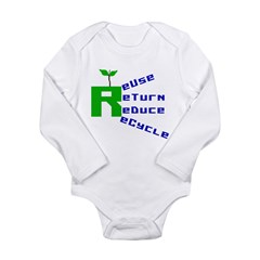 Recycling Long Sleeve Infant Bodysuit