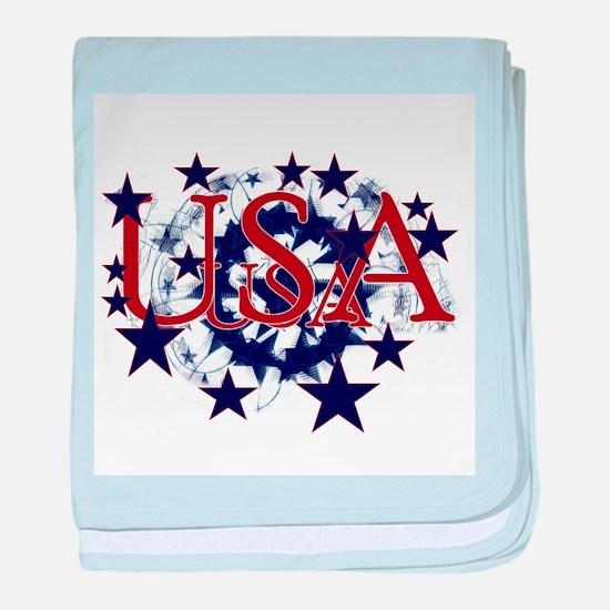 USA Stars Infant Blanket