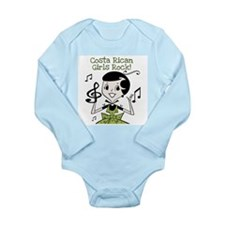 Costa Rican Girls Rock Long Sleeve Infant Bodysuit