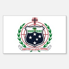 Western Samoa Coat of Arms Rectangle Decal