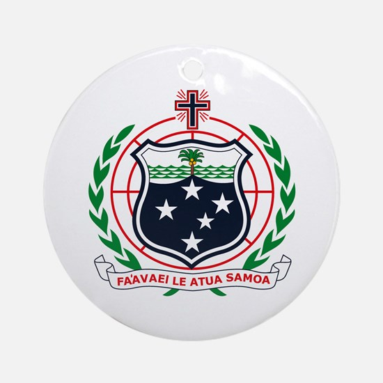 Western Samoa Coat of Arms Ornament (Round)