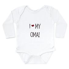 I Love My Oma Long Sleeve Infant Bodysuit