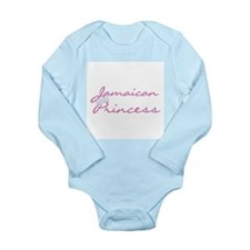 Jamaican Princess Long Sleeve Infant Bodysuit