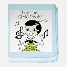 Laotian Girls Rock Infant Blanket