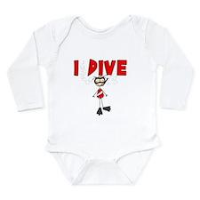 I Dive Long Sleeve Infant Bodysuit