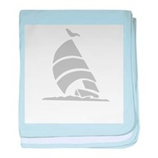 Sailboat Silhouette baby blanket