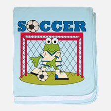Frog Soccer Goalie Infant Blanket