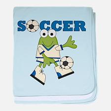 Frog Soccer Infant Blanket