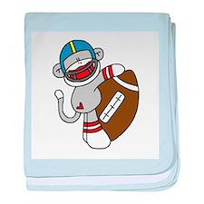 Sock Monkey Football Infant Blanket