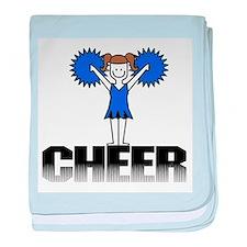 Blue Cheerleading Infant Blanket