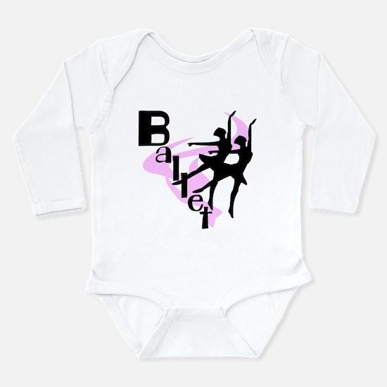 Silhouette Ballet Long Sleeve Infant Bodysuit