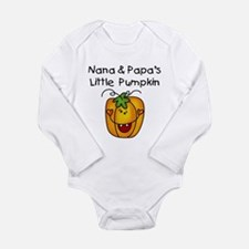 Nana and Papa's Pumpkin Long Sleeve Infant Bodysui