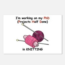 Knitting PhD (projects half d Postcards (Package o