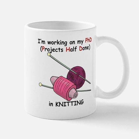 Knitting PhD (projects half d Mug