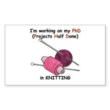 Knitting PhD (projects half d Decal
