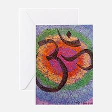 Chakra inspired Om symbol Greeting Card