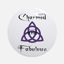 Charmed and Fabulous Triquetr Ornament (Round)