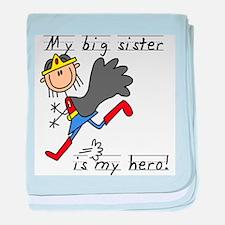 Big Sister My Hero baby blanket
