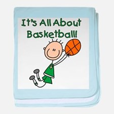 All About Basketball Infant Blanket
