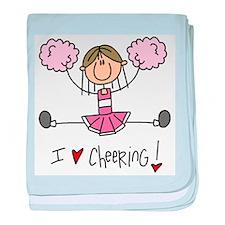 Pink Love Cheering Infant Blanket