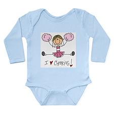 Pink Love Cheering Long Sleeve Infant Bodysuit