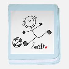 Stick Figure Soccer Infant Blanket