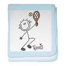 Stick Figure Tennis Infant Blanket