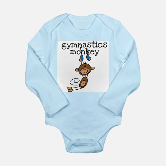 Gymnastics Monkey Long Sleeve Infant Bodysuit