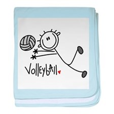 Stick Figure Volleyball Infant Blanket