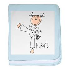 Stick Figure Karate Infant Blanket