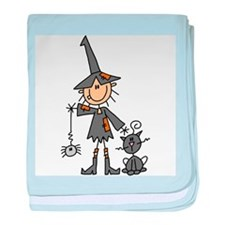 Witch and Cat Infant Blanket