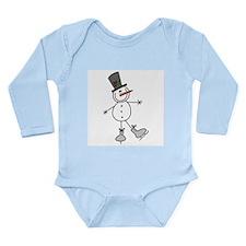 Ice Skating Snowman Long Sleeve Infant Bodysuit