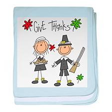 Pilgrims Thanksgiving Infant Blanket